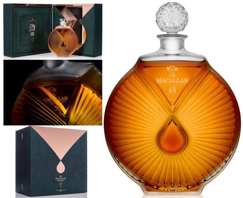 The Macallan Lalique 65 Year Old Single Malt Scotch
