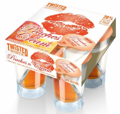 Twisted Shotz Peaches n' Cream