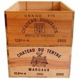 Wood Wine Crates- Various Wineries, No Tops