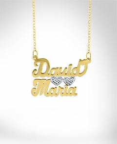 2 Names 2 Hearts Necklace