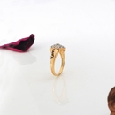 24K Gold Over Silver Couple's Diamond Accent Ring
