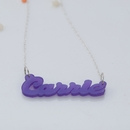 Acrylic name necklace �Carrie�