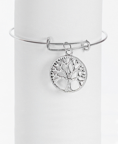 Adjustable Family Tree Bangle