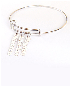 Adjustable Vertical Mini Bangle Bracelet