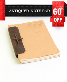 Antiqued Note Pad