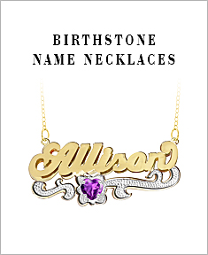 Birthstone Name Necklaces