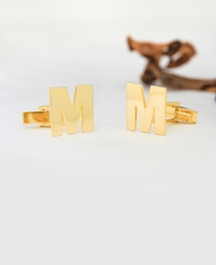 Block Initial Monogram Cuff Links