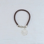 Braided Leather Monogram Bracelet