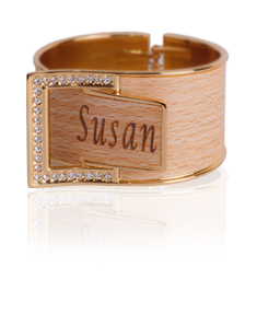BUCKLE DOWN  ENGRAVED BANGLE
