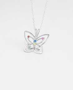 Butterfly Family Necklace
