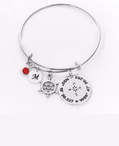 Compass With Coordinates Bangle
