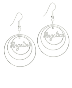 Cruinn Circle Name Earrings
