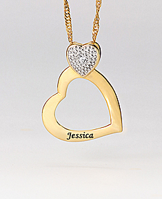 Heart Pendant with Cubic Zirconia