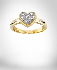 Diamond Accent Promise Heart Shaped Ring