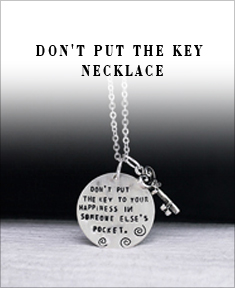 Don't Put the Key Necklace
