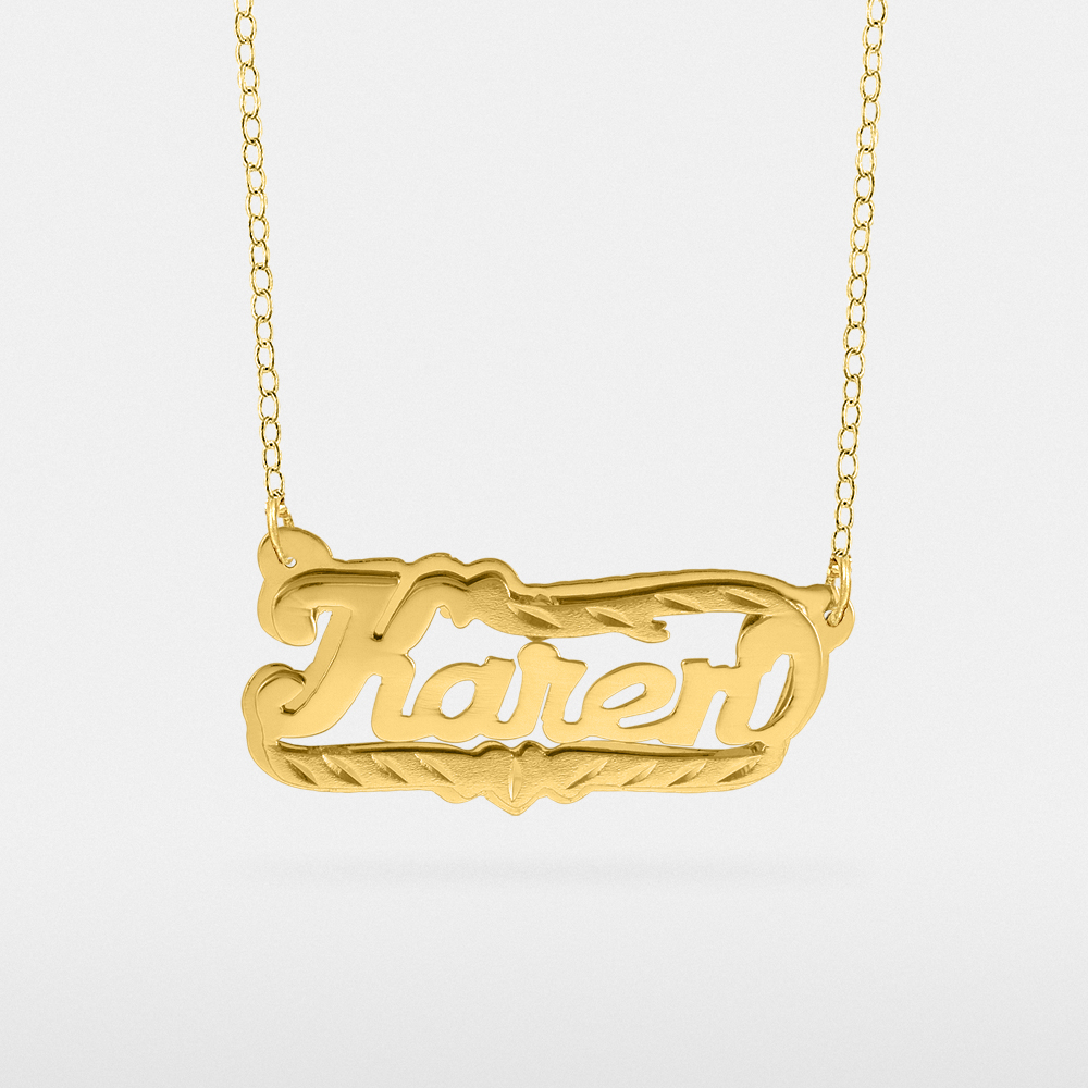 A breathtaking design, the peraonalized name necklace will garner a lot of attention. The beautifully scripted letters have an elegant flow to them that looks like artwork. This necklace chain can be extended to four adjustable lengths.