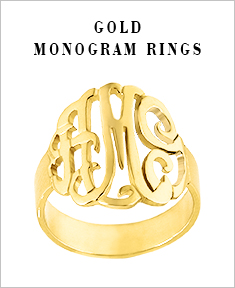 Gold Monogram Rings