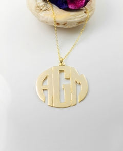 Block Monogram Pendant