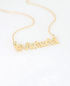 Hash tag #Name Necklace