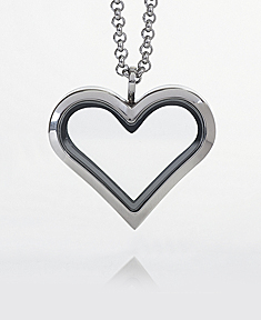 Heart Locket with 4 Floating Motifs of your choice