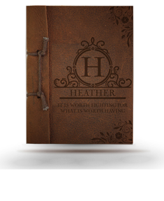 Heather Brown Antique Leather Note Pad
