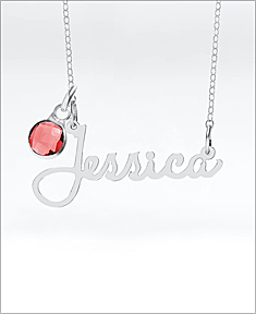 Jessica Script Name Necklace