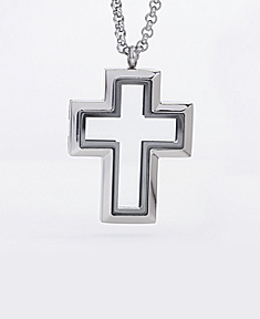 Locket Cross with 4 Floating Motifs of your choice