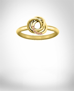 Love Knot Ring with 6 Birthstones