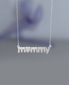 Mommy with Heart Necklace