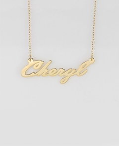 "Gold Name Necklace ""Cheryl"""