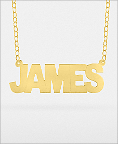 Name Necklace with Link Chain