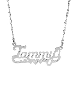 "Name Pendant w/diamond cut ""Tammy"""
