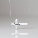Horizontal Engravable Cross