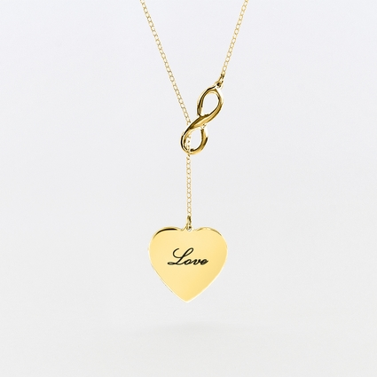 Lariat Infinity with Engravable Heart