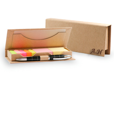 Personalized Box with Sticky Notes and Flags