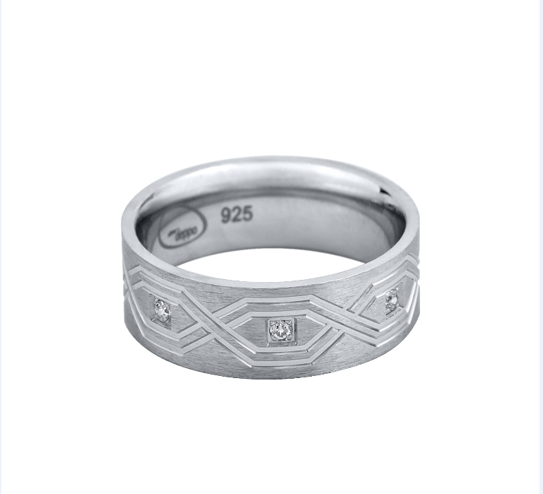 personalized engraved sterling silver wedding band