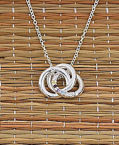 "Personalized Love Knot Pendant & 18"" Link Chain"