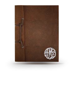 Personalized Natural Leather Monogram Journal
