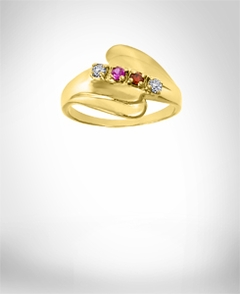 Personalized Mother Ring  with Stones