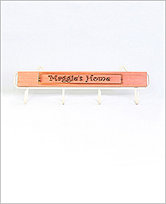 Personalized Natural Wood Name Hanger
