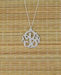 Personalized Single Initial Monogram Necklace