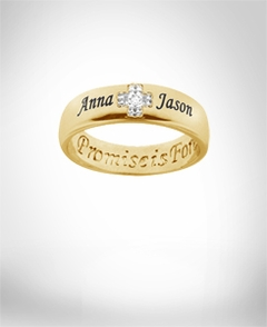"Promise Ring ""Promise is Forever"" with Diamond Accent"