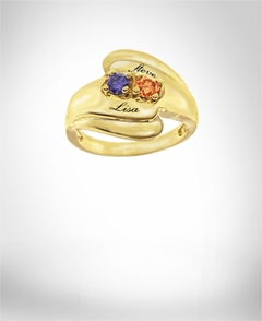 Ring with Stones & Engraving