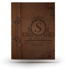 She Believed She Could So She Did  Leather Note Book