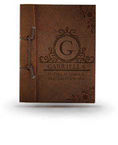 Sisters by Chance Friends by Choice Brown Antiqued Leather Note Book
