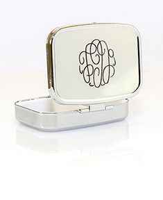 Monogram Compact Case with Mirror and Compartments