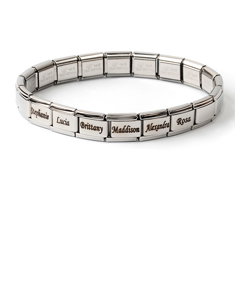 Stainless Steel Bracelet with Engraved Names