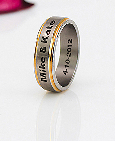 Stainless Steel Two Tone Band for Him
