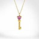 """Family Necklace with 1 Charm & 18"""" Link Chain"""