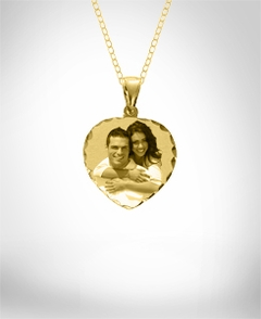 Heart Shaped Portrait Pendant with Dia Cut